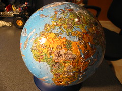 art, sphere, earth, globe,