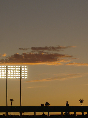 Sunset Over Dodger Stadium