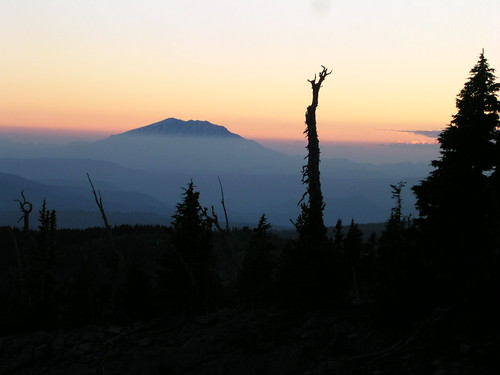 On the way to Mt Adams, sunset view of Mt St Helens by brewbooks