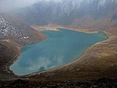 mountain, reservoir, glacial landform, mountain range, lake, body of water, highland, tarn, plateau, fell, landscape, crater lake, aerial photography, coast,