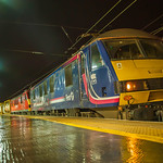 Class 90019 (Ex Caladonion Sleeper Livery) at Preston 22.08.2015 NightShoot