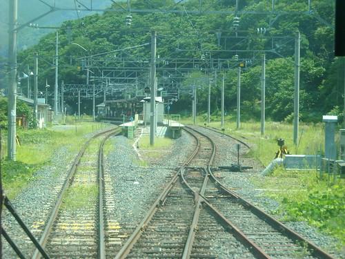 仙山線 山寺駅手前