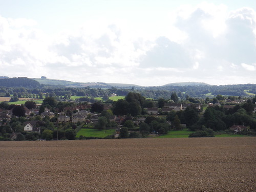 Tisbury with Downs behind