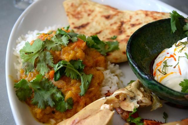 Keralan Curry, Butter Rice, Flatbread & Yoghurt at John Doe, Westbourne Park | www.rachelphipps.com @rachelphipps
