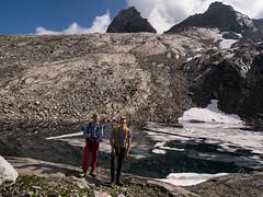 Ronald en Steef met op de achtergrond Zsigmondyspitze