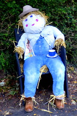 Vicarage newcomer scarecrow