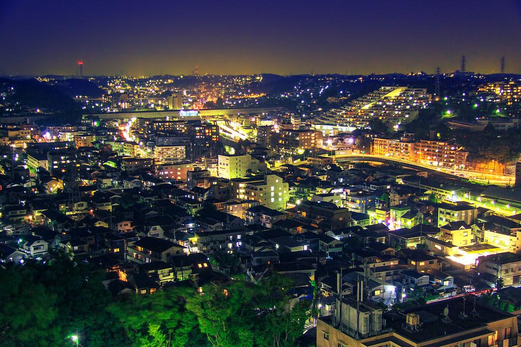 Night vista, Yokohama