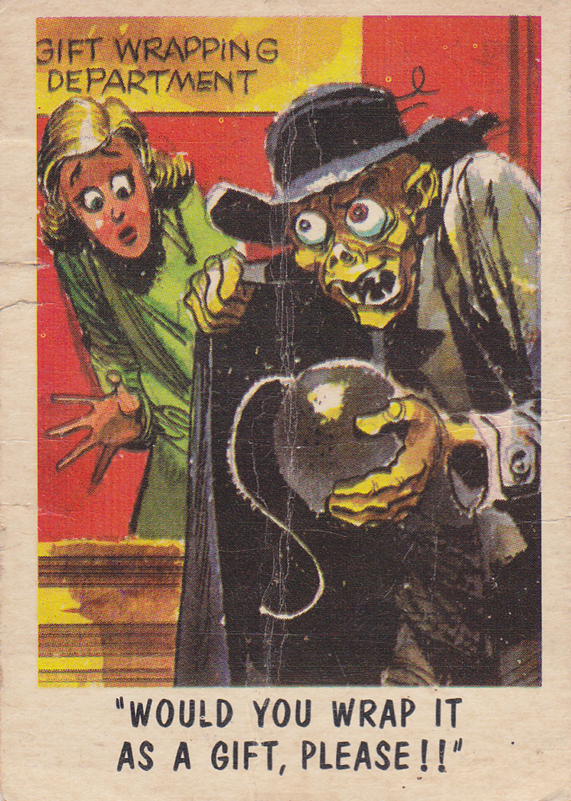 """You'll Die Laughing"" Topps trading cards 1959,  illustrated by Jack Davis (57)"