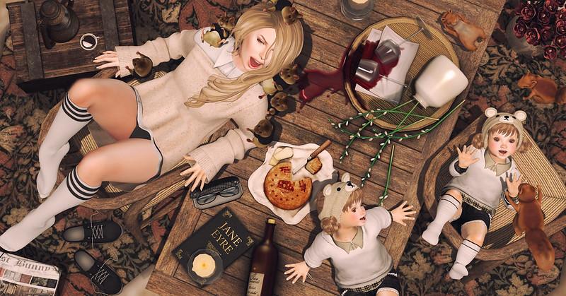 Amelie et les petites: what a mess!