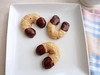 Chocolate Dipped Almond Horseshoe Cookies