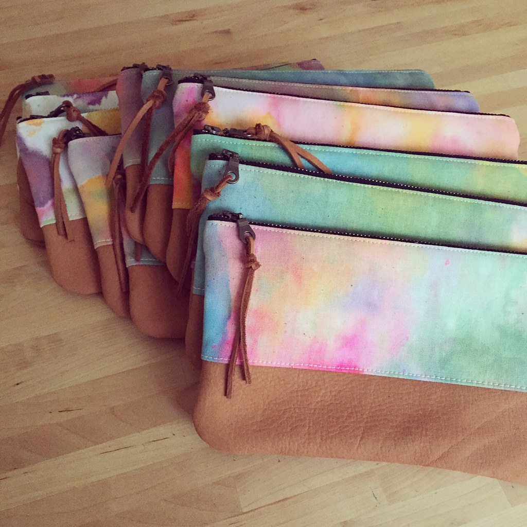 watercolor pouches
