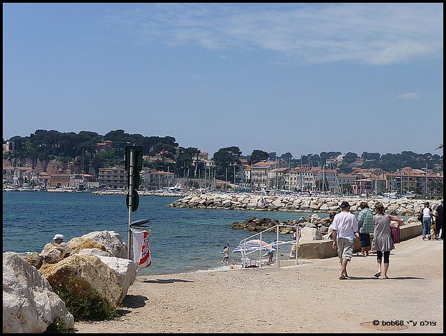 מבט ל- Sanary-sur-Mer ב-פרובאנס