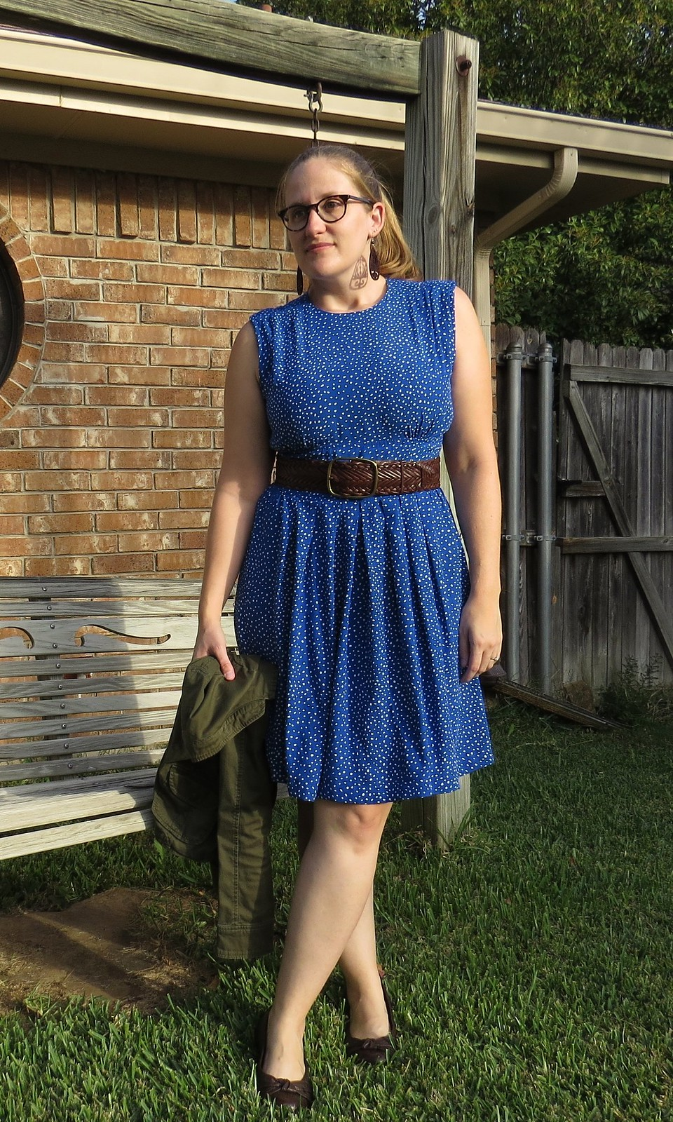 Blue Polka Dot Dress - After
