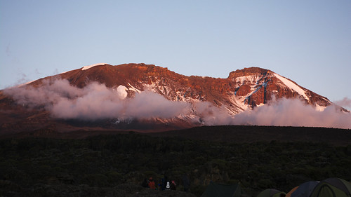 sunset kilimanjaro