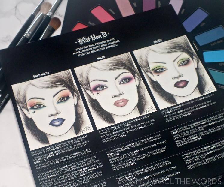 kat von d mi vida loca remix eyeshadow palette rswatches review and eye look