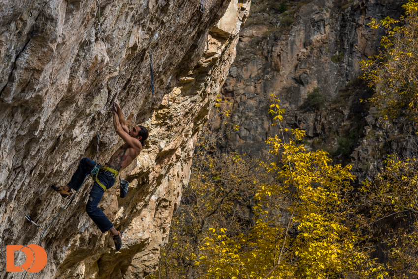 Sam Elias, Slice of life 5.13d/8b (Rifle)