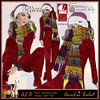 ALB YULE christmas outfit female - onesie - scarf - hat ALB DREAM FASHION by AnaLee Balut