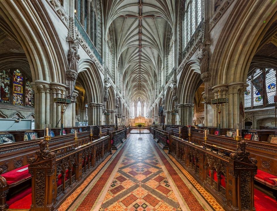 Lichfield Cathedral - The choir. Credit: David Iliff