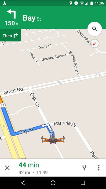 Star Wars Google Maps