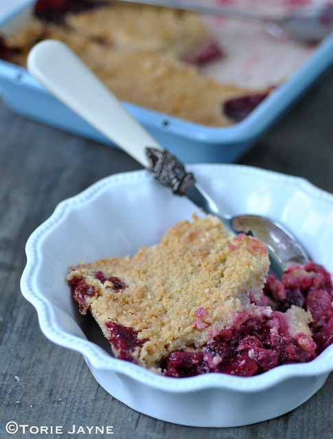 Gluten free blackberry & apple crumble 1