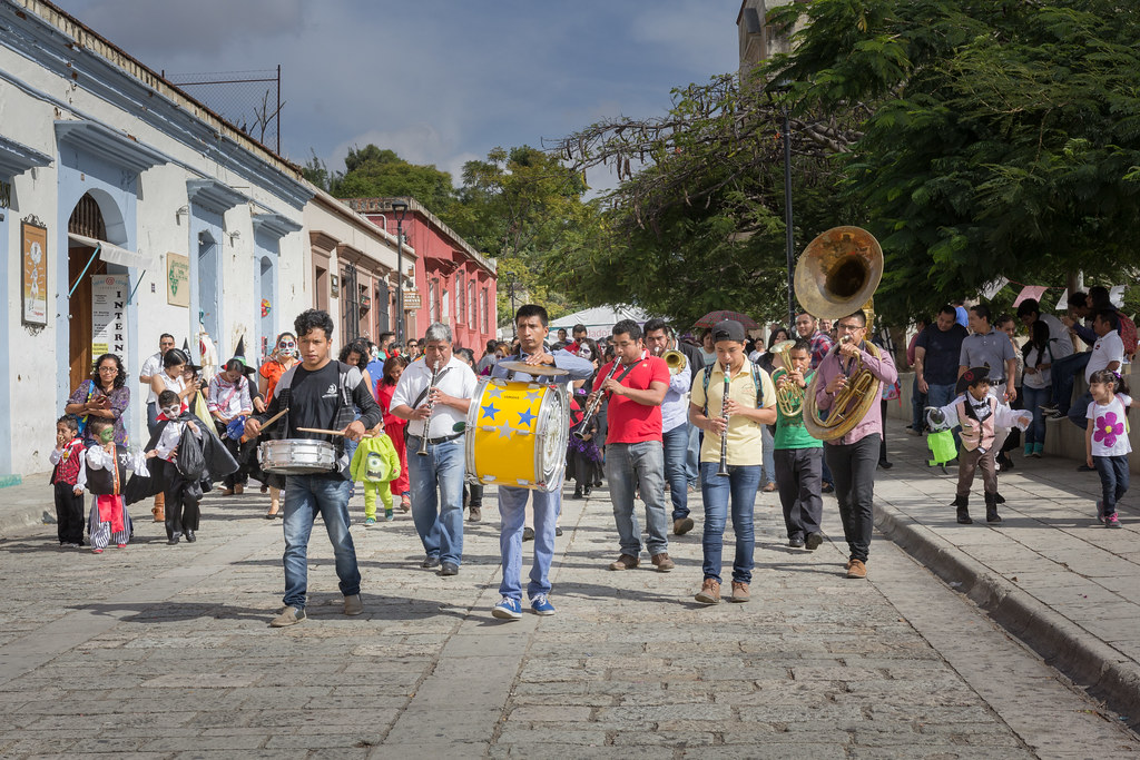 Dia de Muertos Parade, Santo Domingo Church, Oaxaca