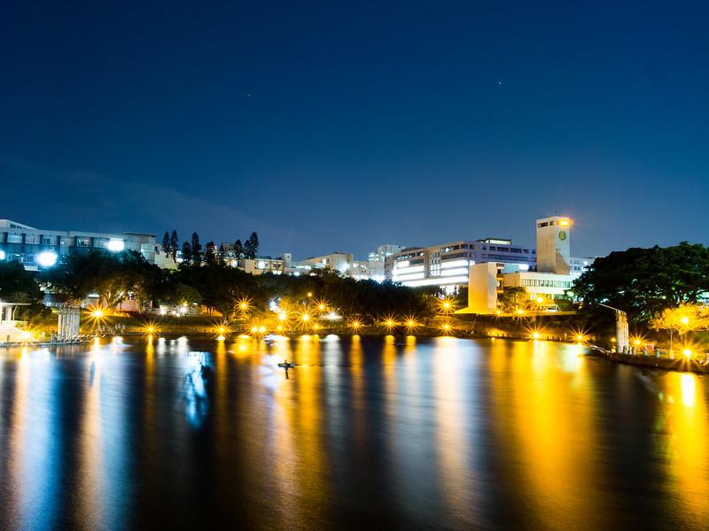 交通大学-竹湖夜景