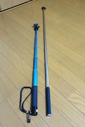 高級自撮り棒コールマンCVSS-6の長さ比較