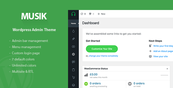 Musik v1.0 – WordPress Admin Theme