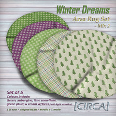 "@ The Project Se7en - [CIRCA] - ""Winter Dreams"" - Area Rug Set - Mix 2"