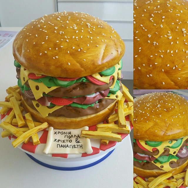 Burger Cake by Maria Charalambous of Γλυκιές Οπτασίες- glikies optasies