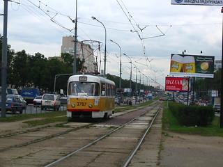 Moscow tram Tatra T3SU 3787, line closed in 2004