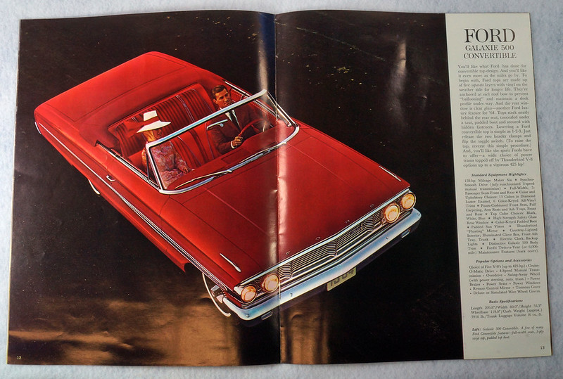 RD12665 1964 Ford Galaxie 500 XL Custom Country Squire Color Brochure Catalog DSC08649