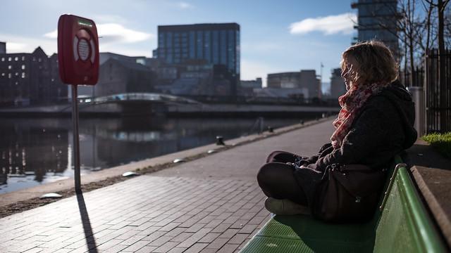 Follow the sun - Dublin, Ireland - Color street photography