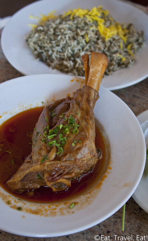 Javan Restaurant- Los Angeles (Sawtelle), CA: Baghala Polo with Lamb Shank
