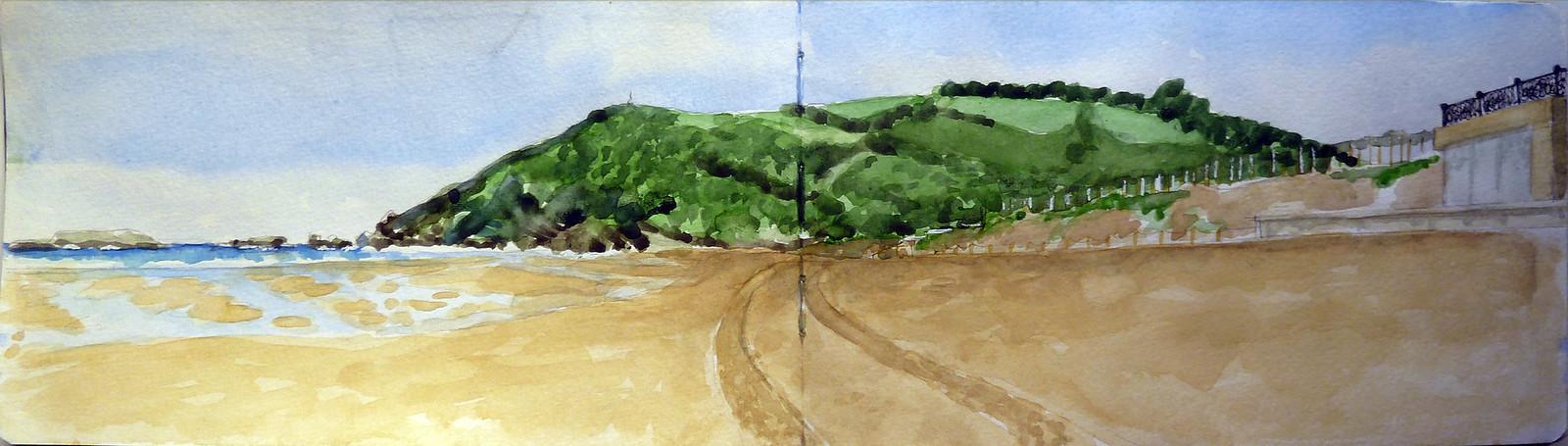 Zarautz, low tide, ( Talaimendi )