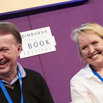 Edwyn Collins & Grace Maxwell | Former Orange Juice frontman Edwyn Collins and his wife Grace Maxwell came to the Book Festival to speak about Edwyn's road to recovery following two strokes a decade ago © Helen Jones