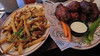 Honey habanero wings and parmesan truffle fries