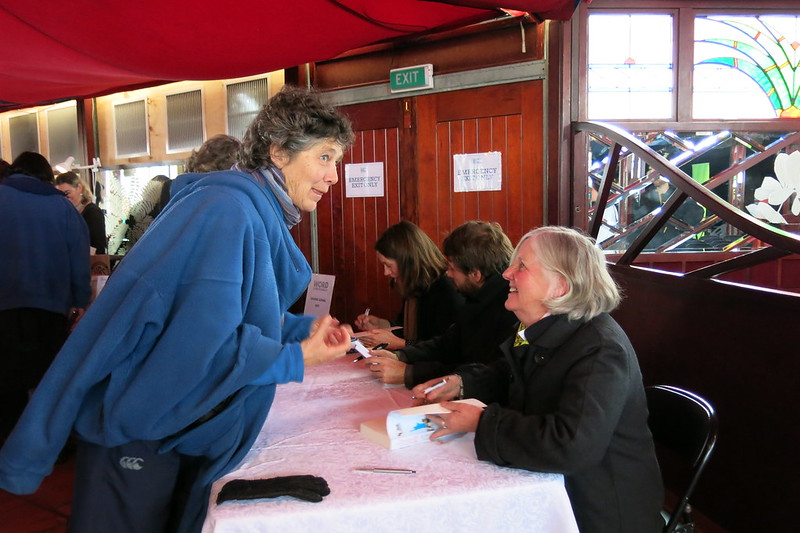 Fiona Farrell signing