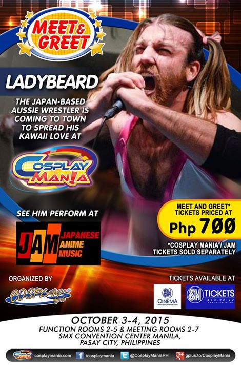 Cosplay Mania Special Guest Meet and Greets Announced! Ladybeard