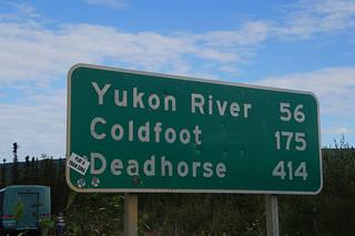 007 Afstanden bij begin Dalton Highway