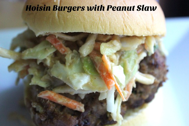 Hoisin Burgers with Peanut Slaw