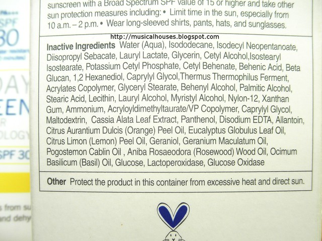 Supergoop Everyday Sunscreen SPF30 Inactive Ingredients