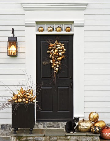 Halloween Decorating Ideas Gold Pumpkins Classic