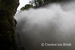 The Pailon de Diablo waterfall