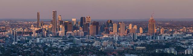 Last light on Brisbane city