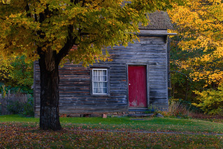 Autumnal Red Door