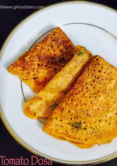 Tomato Dosa for Babies, Toddlers and Kids 4