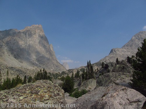 Peaking ahead into the Cirque of Towers from the middle of Jackass Pass, Wind River Range, Wyoming