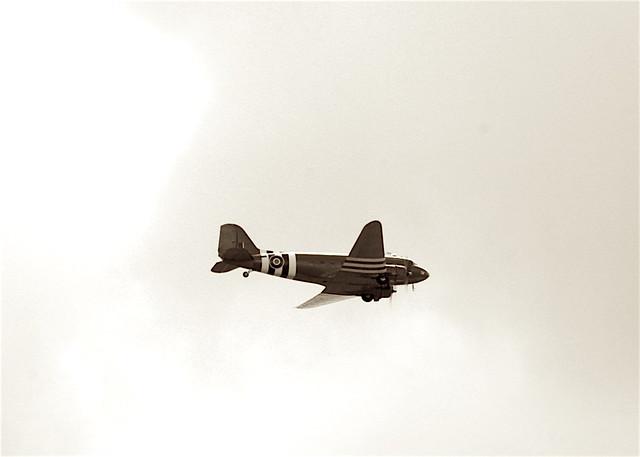 DC3 flying over Flatnadreich, near Edzell, Scotland