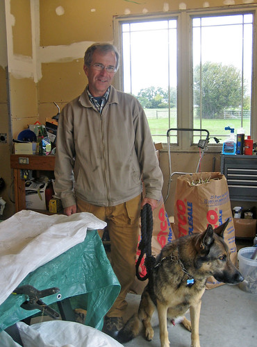 Shepherd from Louth Ontario, Robert I'Anson and Belgian Shepherd Jack